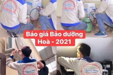 Bảng giá Bảo dưỡng điều hòa 2021 Tại Hà Nội